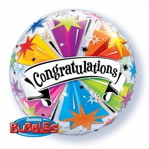 Congratulations Starburst Bubble