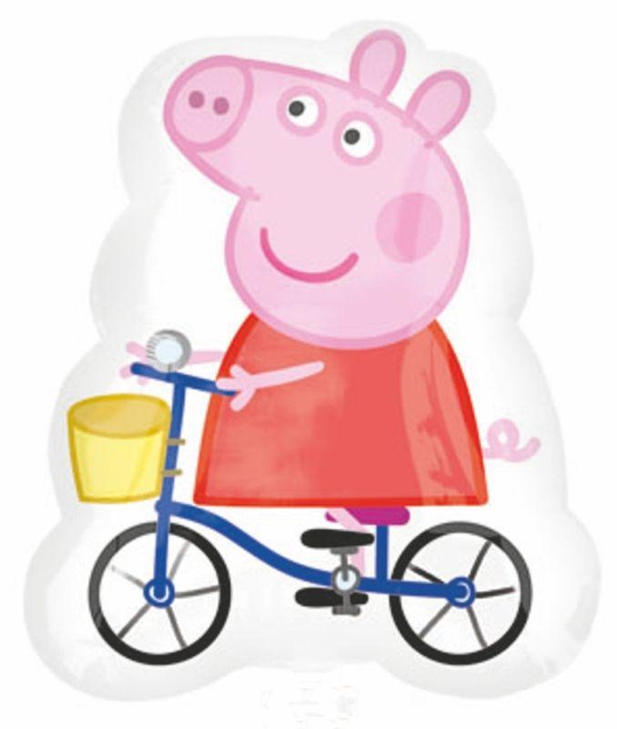Peppa Pig Super Shape On Her Blue Bike Uninflated