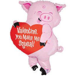 valentine you make me squeal - Valentine Pig