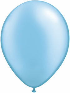 5 inch latex, 100ct - Pearl AzureBlue, uninflated