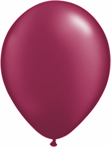 5inch latex, 100ct - Pearl Burgundy, uninflated