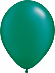 5 inch latex, 100ct - Pearl Emerald, uninflated