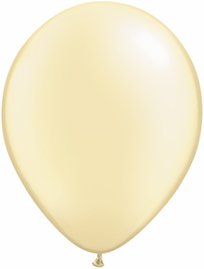 5 inch latex, 100ct - Pearl Ivory, uninflated