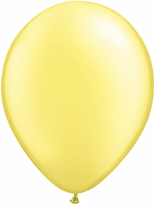 5 inch latex, 100ct - Pearl Lemon, uninflated