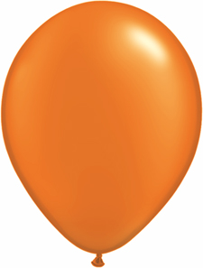 5 inch latex, 100ct - Pearl Orange, uninflated