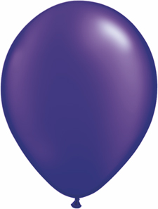 5 inch latex, 100ct - Pearl Purple, uninflated