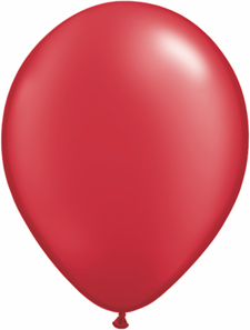 5 inch latex, 100ct - Pearl Ruby Red, uninflated