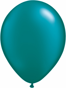5 inch latex, 100ct - Pearl Teal, uninflated