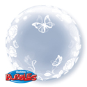 Clear Elegant Roses and Butterflies Bubble