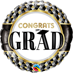 Congrats Grad Black and Gold