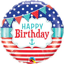 Happy Birthday Nautical and Pennants