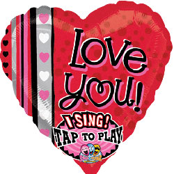 Love You Dots and Stripes Sing-a-tune - Uninflated