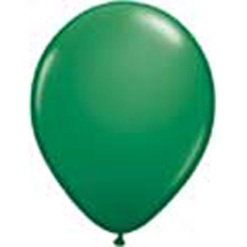 11 inch latex, 100ct - Standard Green