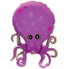 Amazing Octopus Super Shape Balloon - Uninflated
