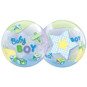 Baby Boy Airplane Bubble