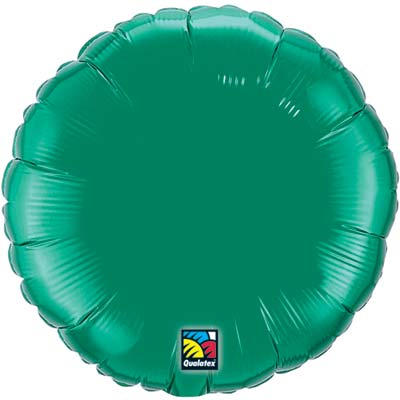 Circle Foil Balloon | Emerald Green