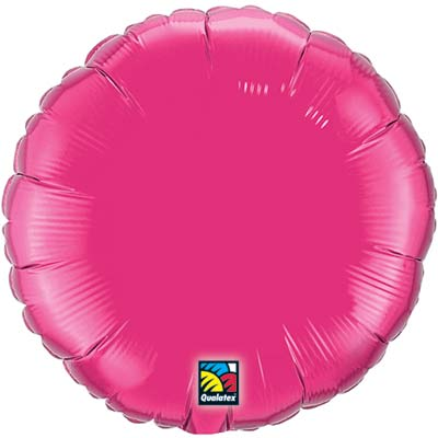 Circle Foil Balloon | Fuchsia