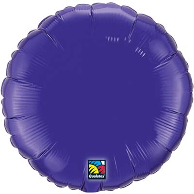 Circle Foil Balloon | Quartz Purple