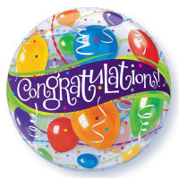 Congratulations Balloons Bubble - Uninflated