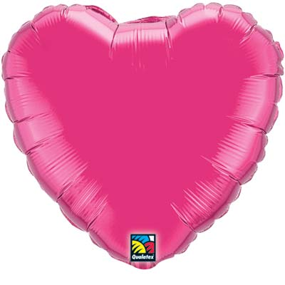 Heart Foil Balloon | Fuchsia
