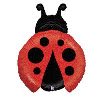 Lady Bug Super Shape Balloon - Uninflated