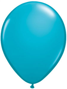 16 inch latex, 5ct - Tropical Teal
