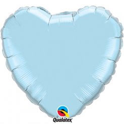 Heart Foil Balloon l Pearl Light Blue