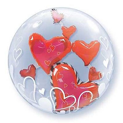 Heart Double Bubble