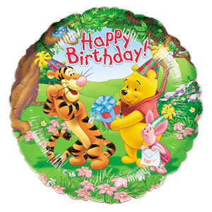 Happy Birthday - Pooh and Friends - Uninflated