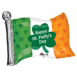 Happy St Pattys Day Flag - Uninflated