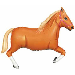 Tan Horse Supershape - Uninflated