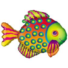 Tropical Fish Super Shape Balloon - Uninflated