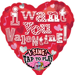 I Want you Valentine Sing-A-Tune - Uninflated
