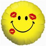 Yellow Smiley with 3 Kisses