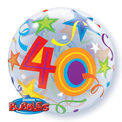 40 Brilliant Stars Bubble - Uninflated