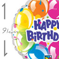 Happy Birthday Sparkling Balloons 91cm - Uninflate