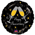 Happy Anniversary Champagne Glasses