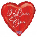 I Love You Script with Stripes