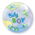 Baby Boy Airplane Bubble - Uninflated