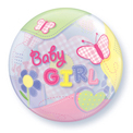 Baby Girl Butterflies Bubble - Uninflated