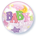 Baby Girl Moon and Stars Bubble - Uninflated