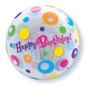 Birthday Cupcake and Dots Bubble - Uninflated
