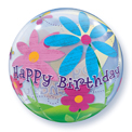 Birthday Fun and Funky Flowers Bubble - Uninflated