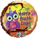 Birthday Owl - Uninflated