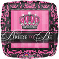 Bride to Be Pink Damask - Uninflated