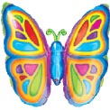 Rainbow Butterfly Super Shape Balloon - Uninflated