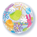 Easter Bunnies and Eggs Bubble - Uninflated