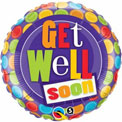 Get Well Soon Polka Dots - Uninflated