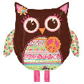 Hippie Chick Owl - Uninflated