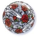 I Love You Red Roses Filigree Bubble - Uninflated
